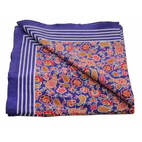 Merkloos Boeren zakdoek  Paisley paars 55 x 55 cm
