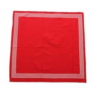 Merkloos Boeren zakdoek  Rood uni 55 x 55 cm