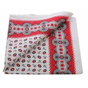 Merkloos Boeren zakdoek Koffieboon rood 55 x 55 cm