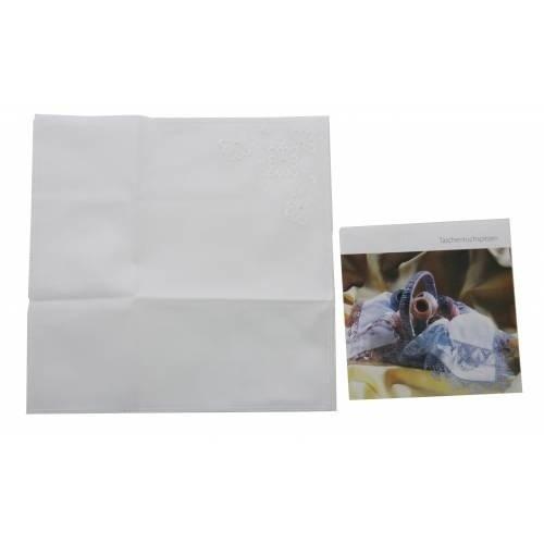 Swan kantklos zakdoekjes 12 stuks AHT20