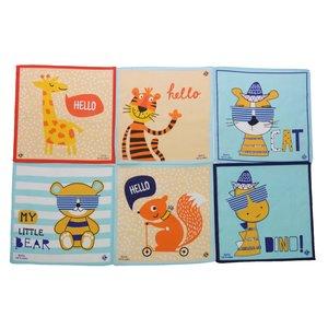 Merkloos Sofil kinderzakdoeken Animal  12 stuks