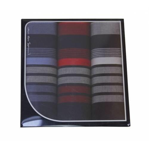 Swan Swan Heren zakdoeken Dark Stripe 3 stuks