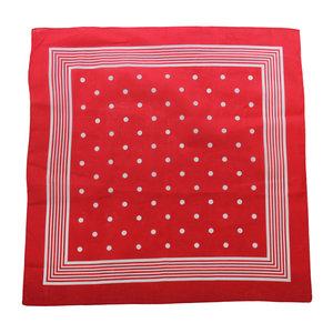 Tiseco Tiseco Boeren zakdoek rood stippel 55 x 55 cm