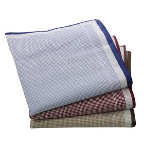 Tiseco Tiseco Heren zakdoeken check, dikkere kwaliteit, 12 stuks