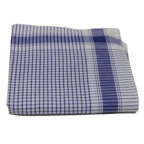 Tiseco Tiseco Heren zakdoeken Vichy Blauw 12 stuks