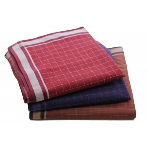 Tiseco Tiseco Heren zakdoeken, dikke kwaliteit Check 6 12 stuks