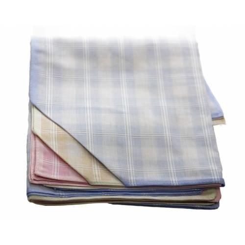 Winkler Winkler Dames zakdoeken witte ruitje 12 stuks