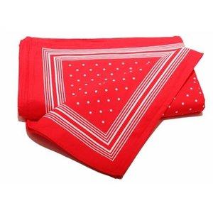 Merkloos Boeren zakdoek rood kleine stippel 55 x 55 cm