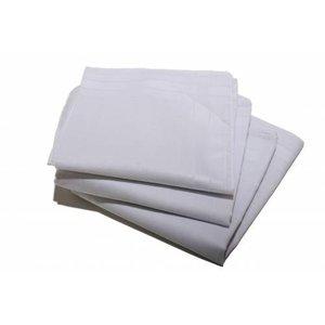 Merkloos Dames zakdoeken wit 12 stuks