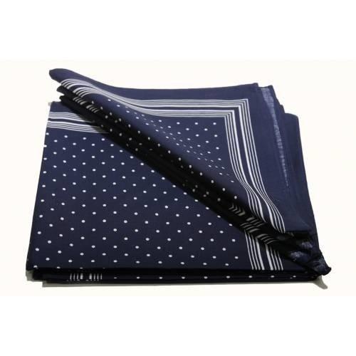 Merkloos Boeren zakdoek Blauw kleine stippel 54 x 54 cm
