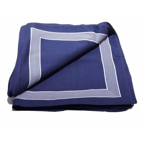 Merkloos Boeren zakdoek Blauw uni 58 x 58 cm