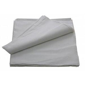 Merkloos Boeren zakdoek wit uni 55 x 55 cm