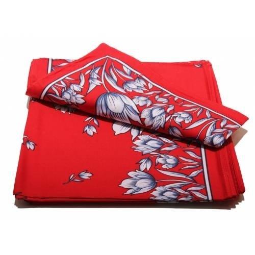 van Gelderen Boeren zakdoek rood Tulpen 53 x 53 cm