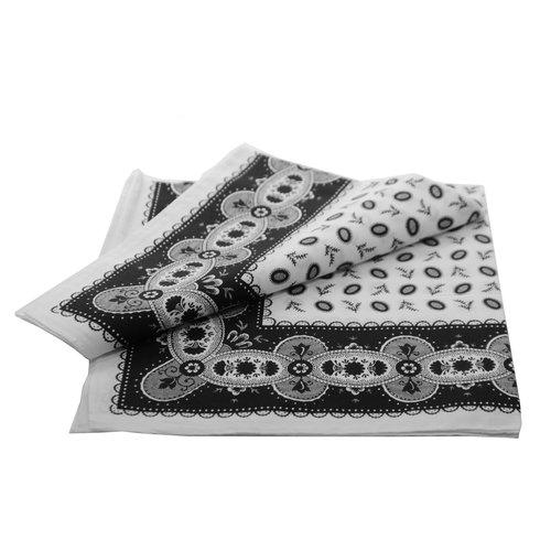 Merkloos Boeren zakdoek Koffieboon zwart 55 x 55 cm