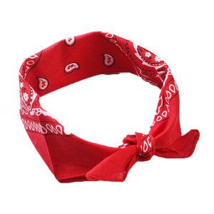 Merkloos Bandana rood  Rain Drop rood 54 x 54 cm