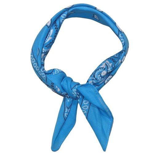 Merkloos Bandana Rain Drop lichtblauw 54 x 54 cm