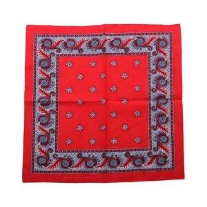van Gelderen Boerenzakdoek Harlekijn rood  55 x 55 cm