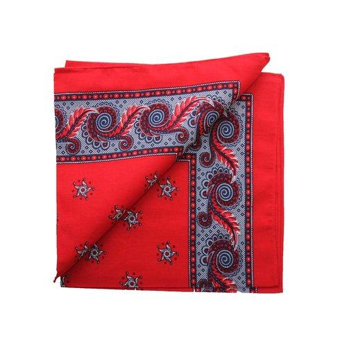 van Gelderen Harlekijn zakdoek rood  55 x 55 cm