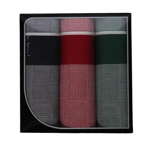 Swan Swan Luxe Heren zakdoeken block 3 stuks