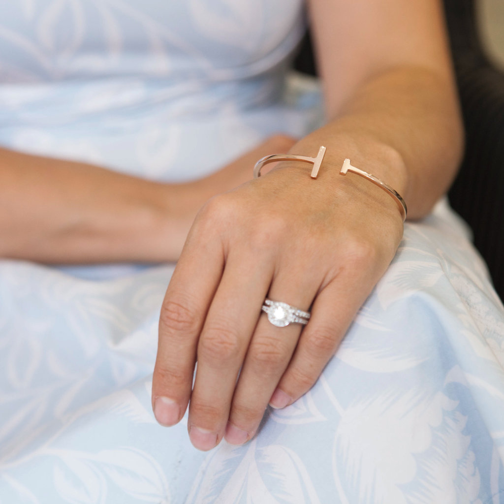 Joulberry Rose Gold Scape Bangle