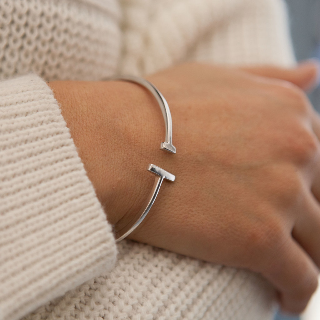 Joulberry Silver Scape Bangle