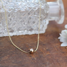 Joulberry Gold Floating Ball Necklace