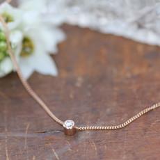 Rose Gold North Star Diamond Necklace