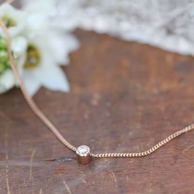 Joulberry Rose Gold North Star Diamond Necklace
