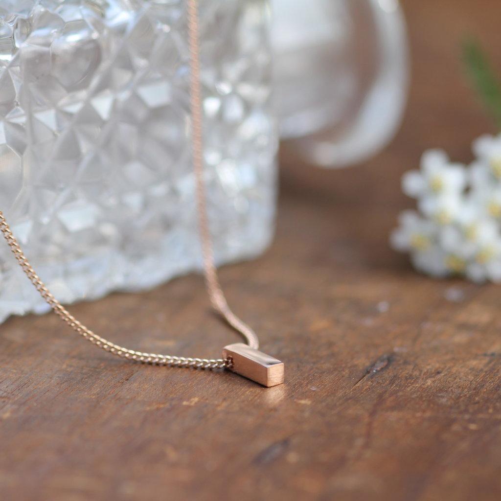 KENSINGTON Rose Gold Petite Bolt Necklace