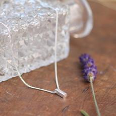 Nova Silver Bolt Necklace