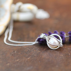 Joulberry Oyster Silver Pearl Necklace
