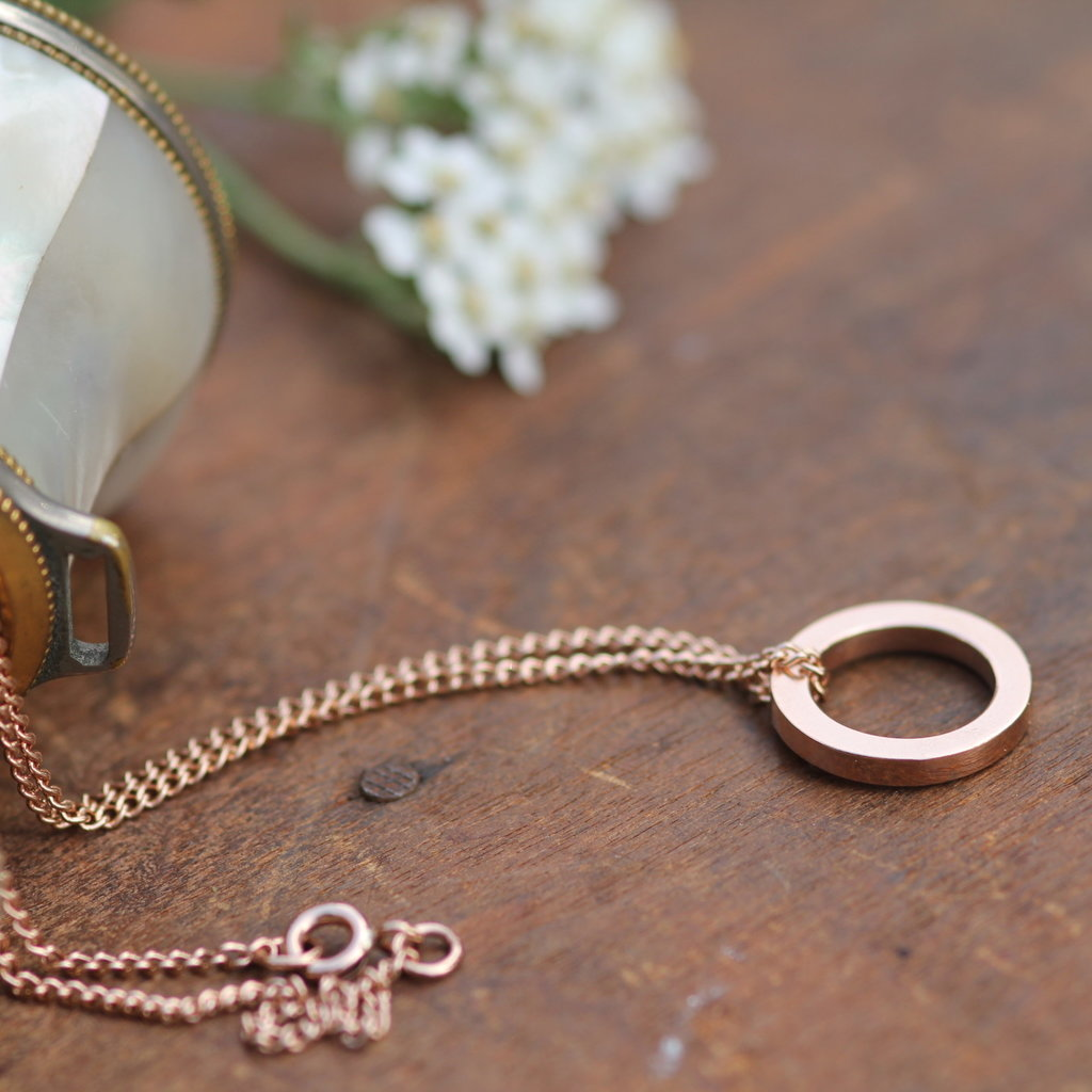 Joulberry Rose Gold Polo Necklace