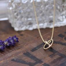 Nova Gold Sphere Necklace
