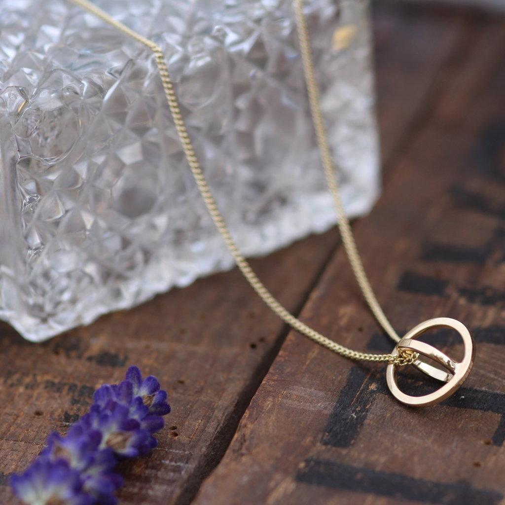 KENSINGTON  Gold Petite Sphere Necklace