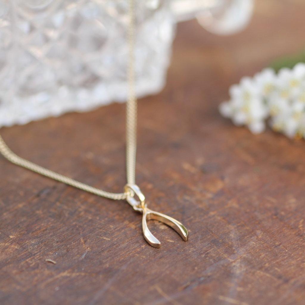 MADISON Gold Wishbone Necklace