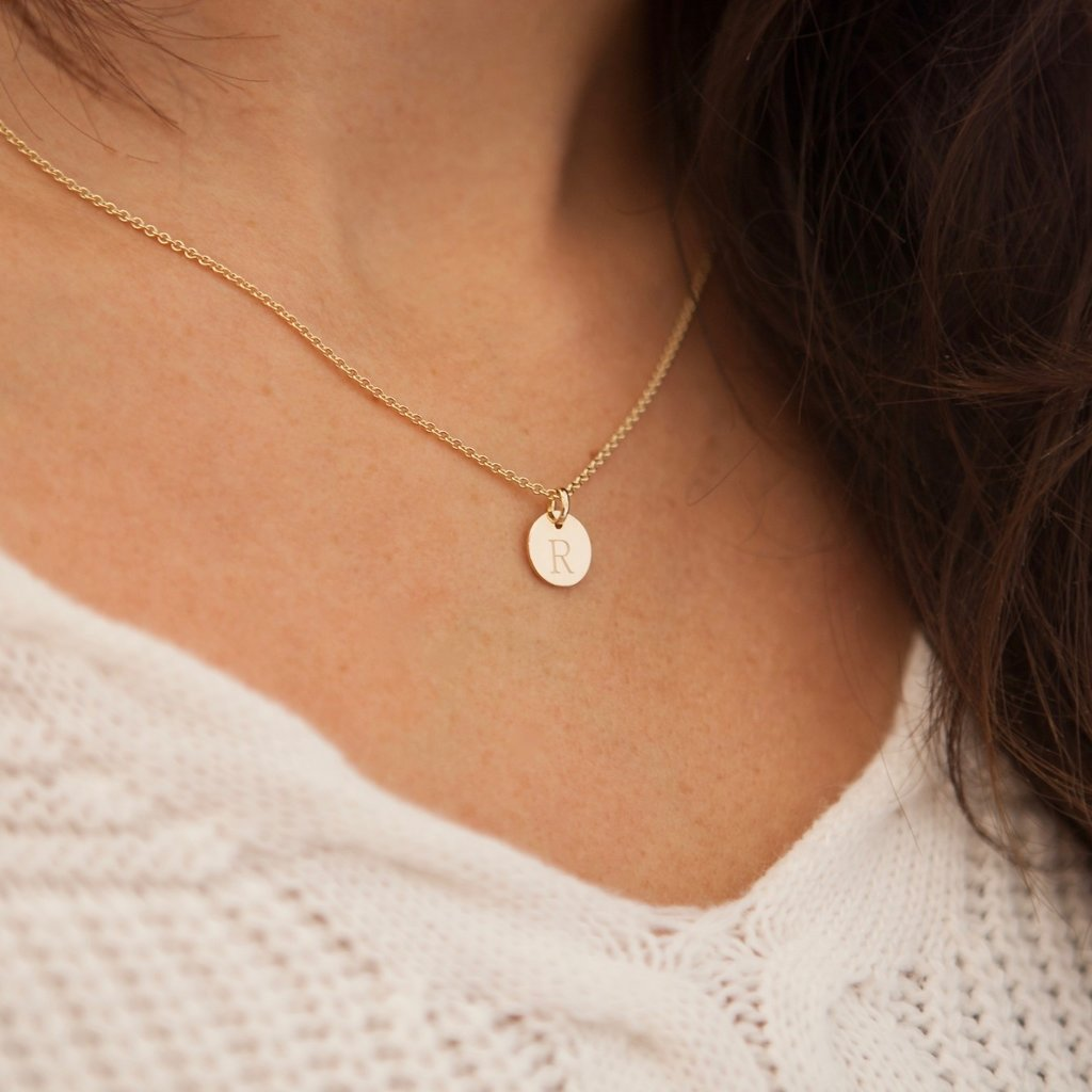 Gold Initials Necklace