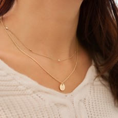 Joulberry Gold Initials Necklace