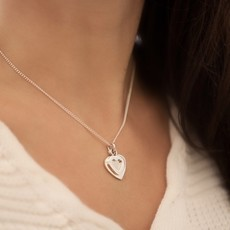 DARCY Silver Heart In Mine Necklace