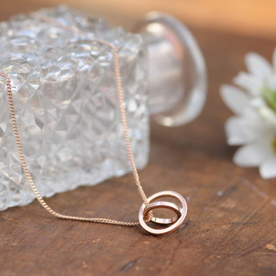 Nova Rose Gold Sphere Necklace