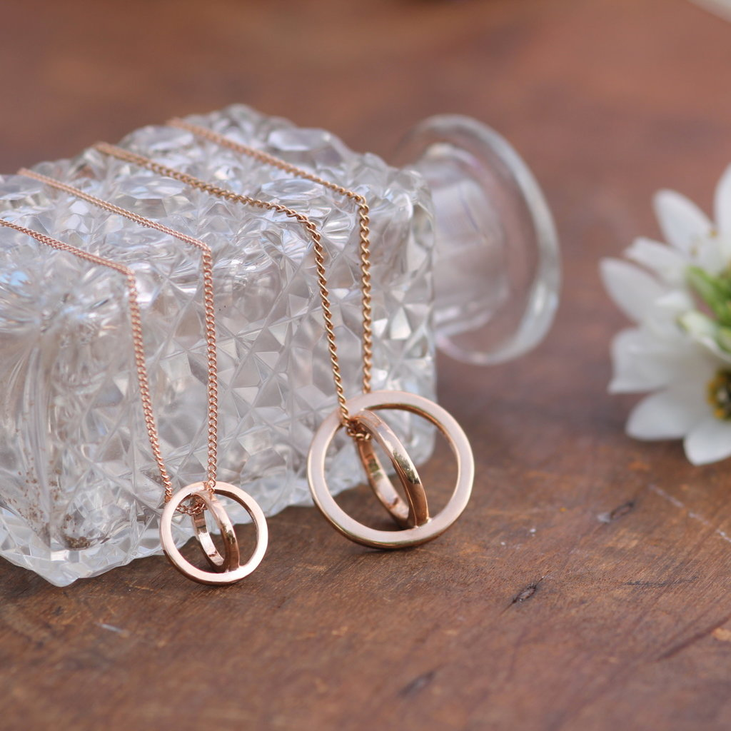 Joulberry Nova Rose Gold Sphere Necklace