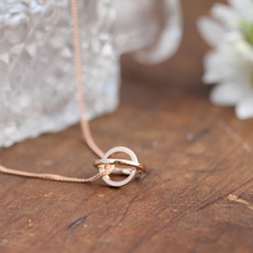 KENSINGTON Rose Gold Petite Sphere Necklace