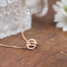 Nova Rose Gold Sphere Necklace