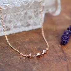 NOVA Rose Gold Pyramid Trio Necklace