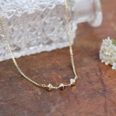Joulberry Geo Gold Pyramid Trio Necklace