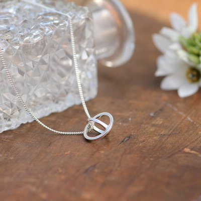 Joulberry Nova Silver Sphere Necklace