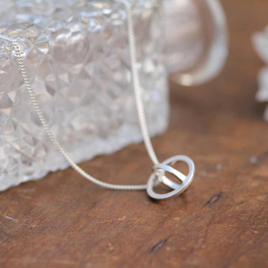 Nova Silver Sphere Necklace