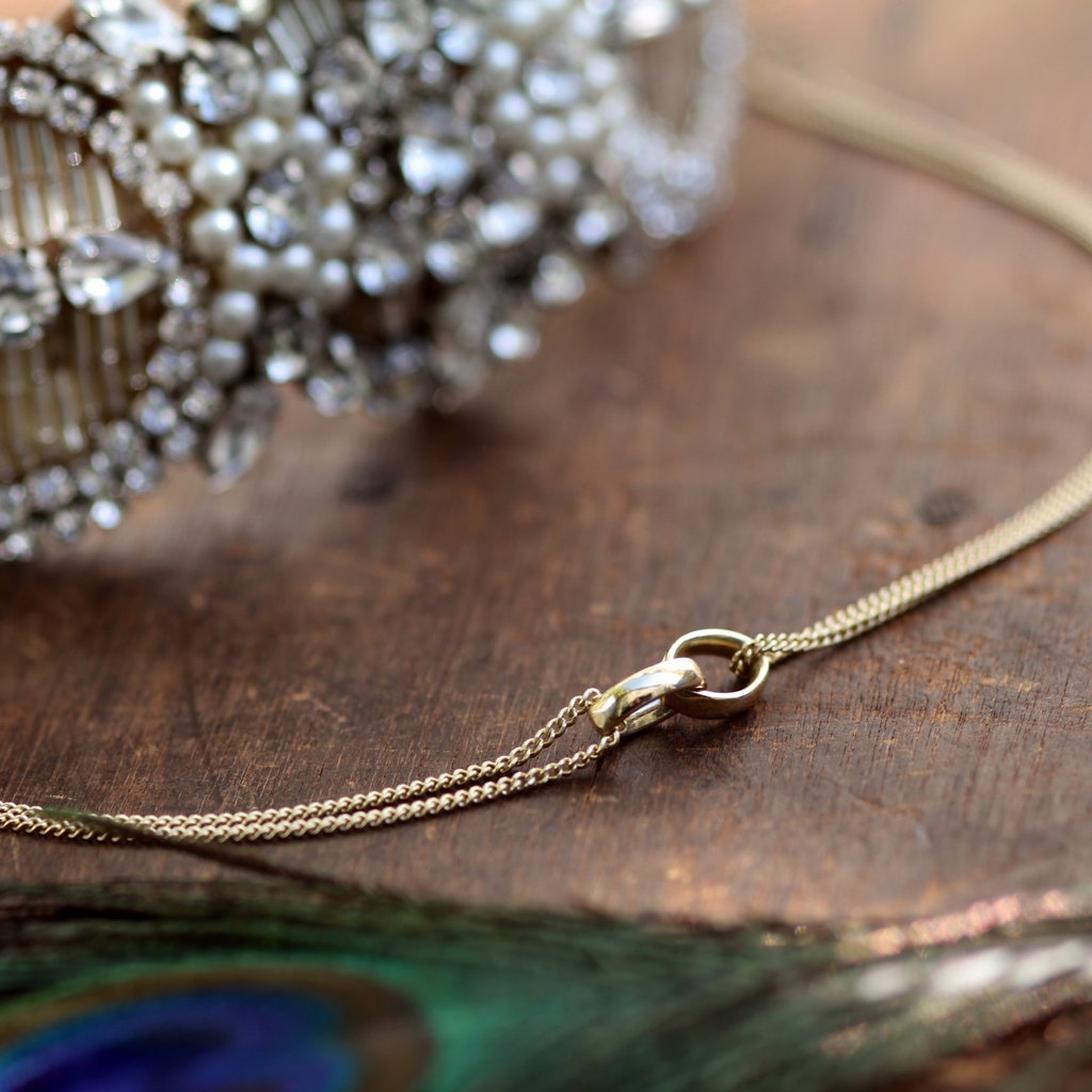 CASSIDY Gold Eternity Necklace