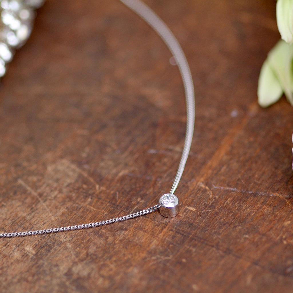 Joulberry White Gold North Star Diamond Necklace