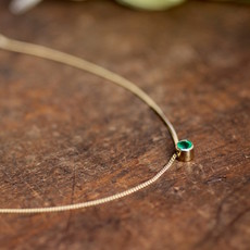 Joulberry Gold Elphaba Emerald Necklace