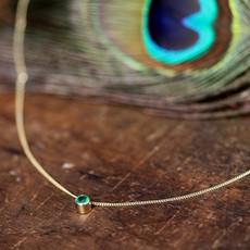 Gold Elphaba Emerald Necklace